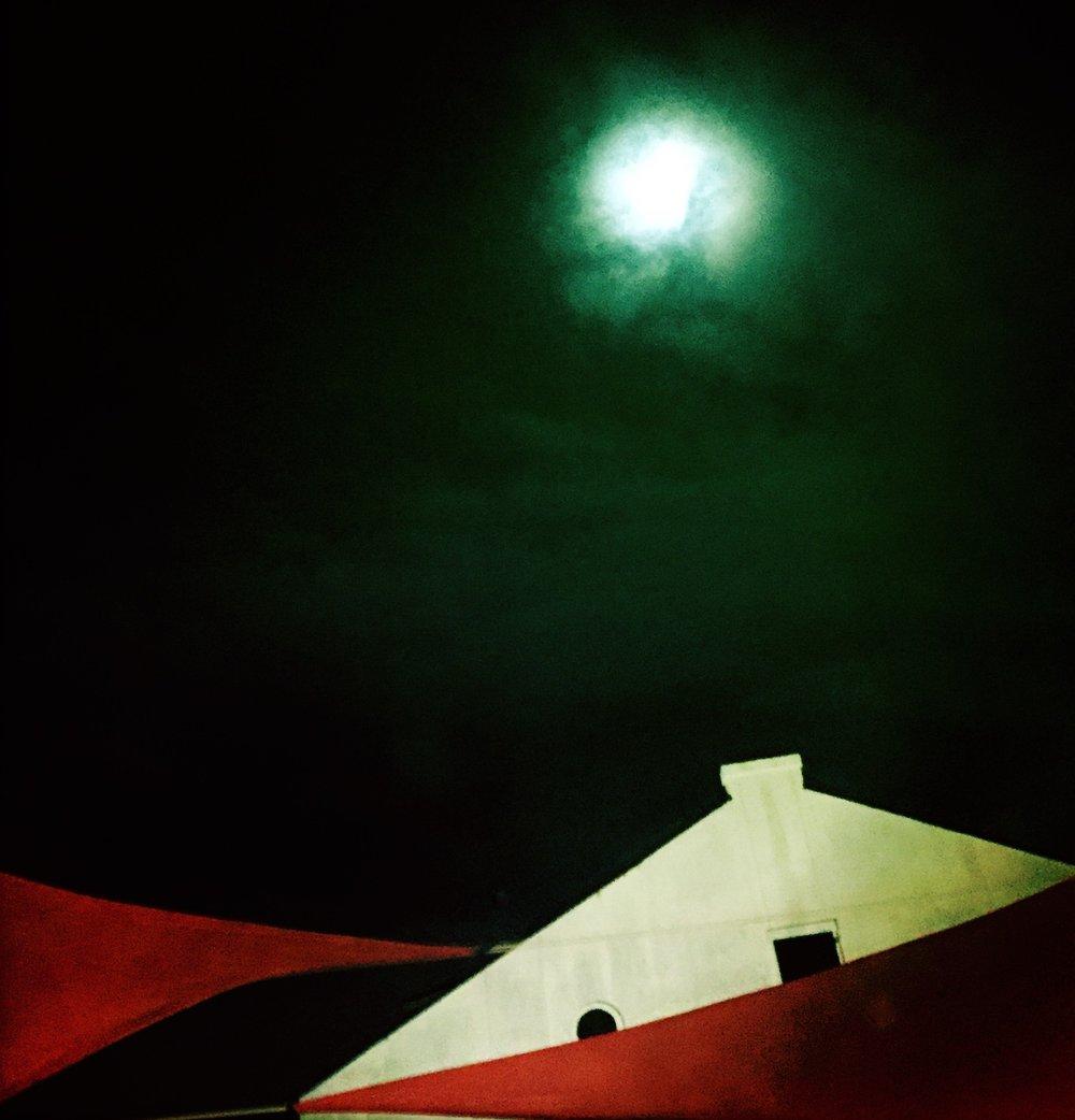 Moon over the Dragonfly Café, Fairhope, Alabama