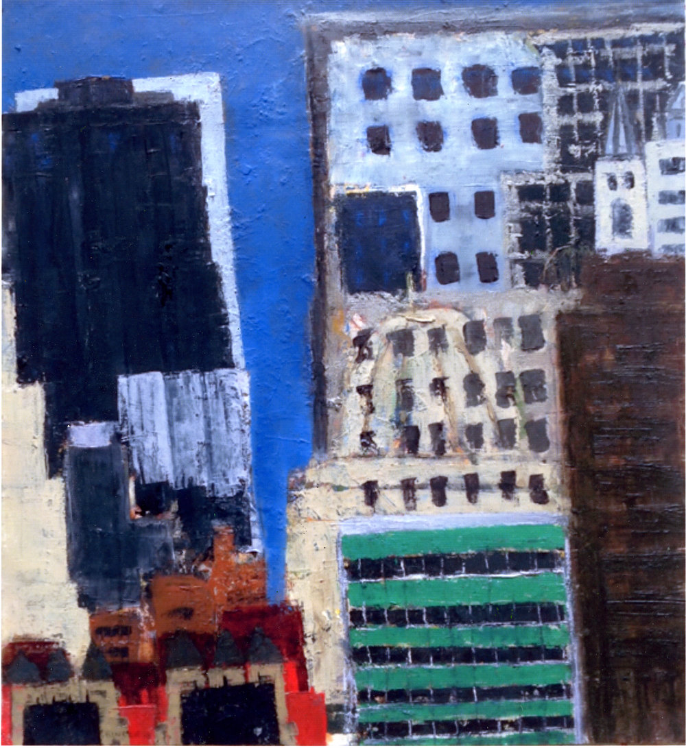 """Urban Change   Oil on paper  22"""" x 20""""  $1035  Click to Enlarge Image   Inquire."""
