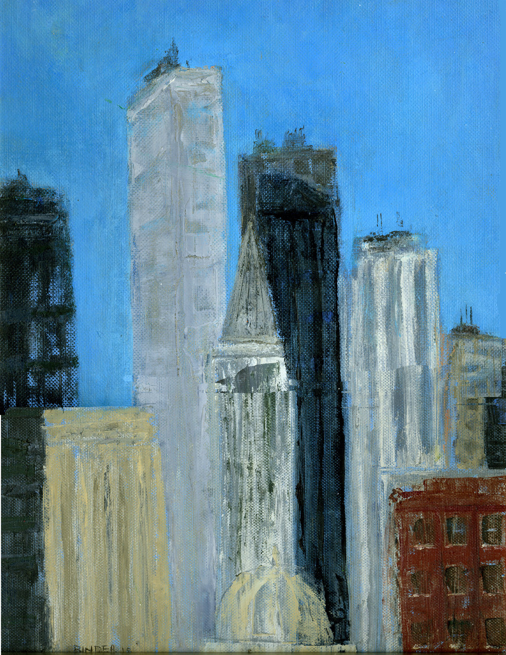 """Towering Reach for the Sky   Oil on canvas paper  16"""" x 12""""  $585  Click to Enlarge Image   Inquire."""