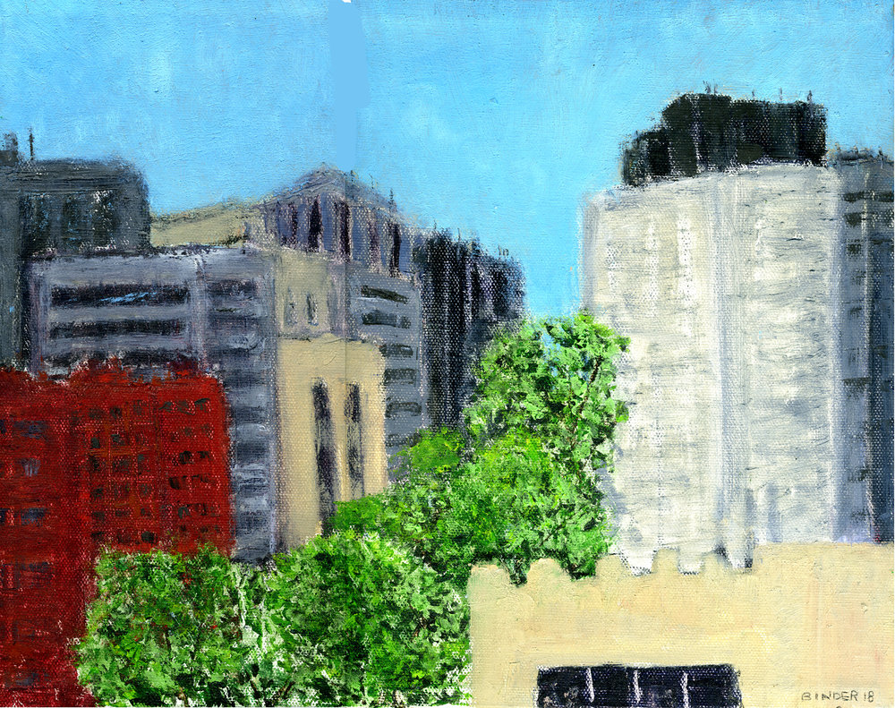 """Up Connecticut Avenue   Oil on stretched canvas  11"""" x 14""""  $585  Click to Enlarge image   Inquire ."""