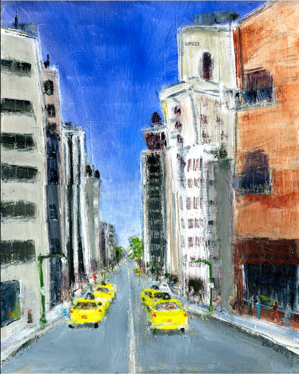 """30th & 9th (East)   Oil on stretched canvas  14"""" x 11""""  $585  Click to Enlarge Image   Inquire"""