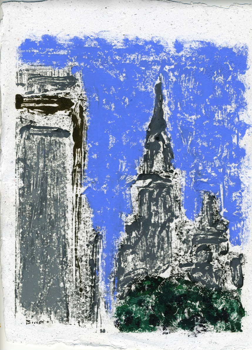 """Central Park South II   Oil on panel  10"""" x 8""""  $385  Click to Enlarge Image   Inquire"""