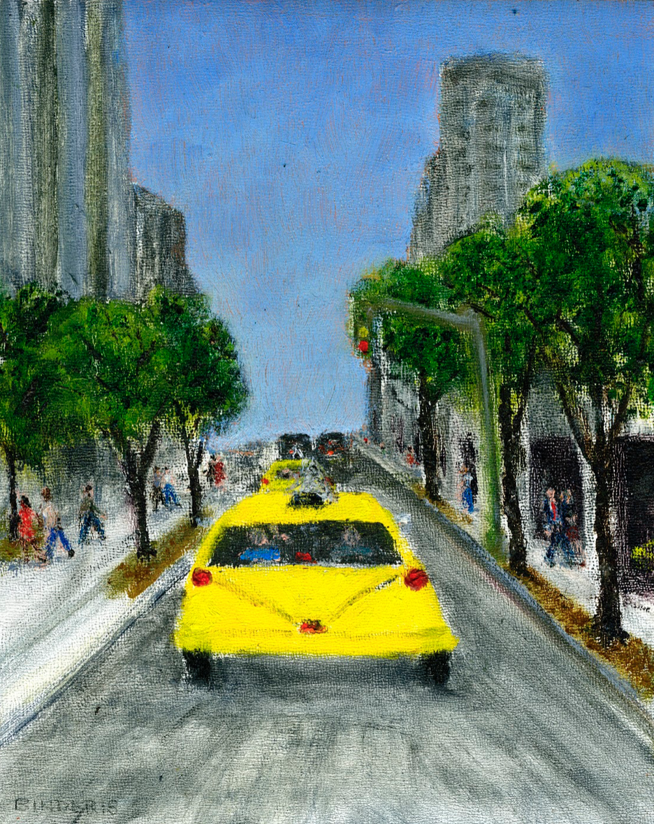 """10th Avenue and 60th (North)   Oil on panel  10"""" x 8""""  $385  Click to Enlarge Image   Inquire"""