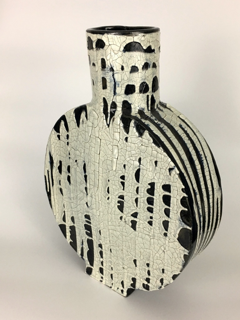 "Large Ceramic Vase , Stoneware and Glaze. 15"" x 11"". 2017."
