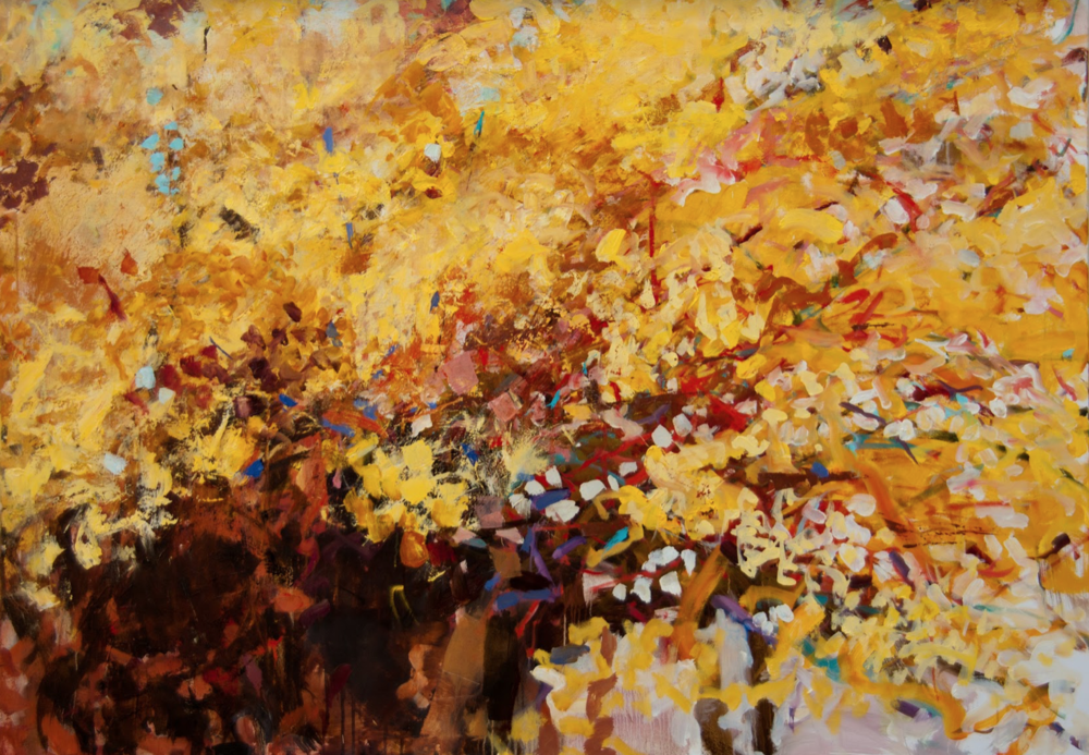 "Shower of Gold  | 54"" x 38"" 