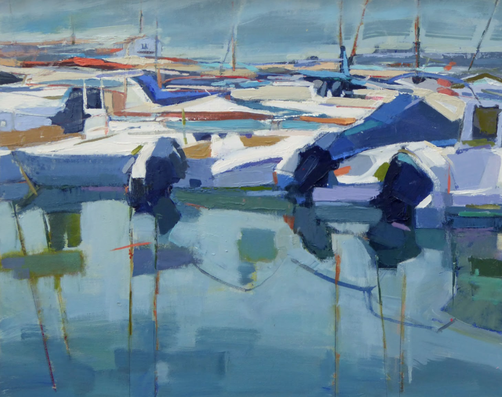 "Port de Soller Majorca  | 24"" x 30"" 