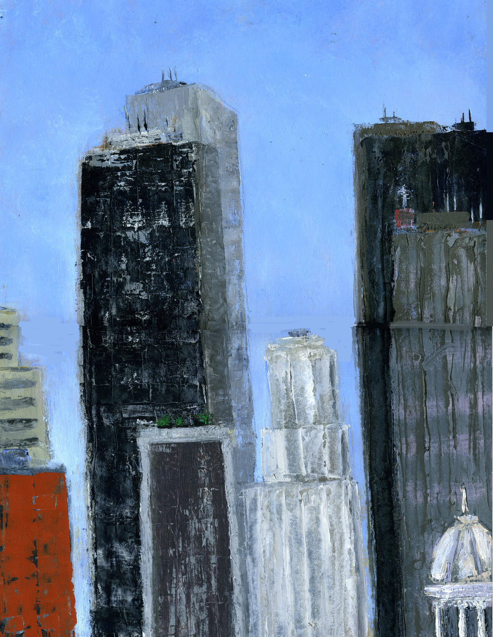 "Towers and Spires | 18"" x 12"" 