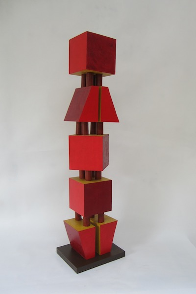 Red Tower , Nancy Frankel, 2018. Wood. Courtney of the artist.
