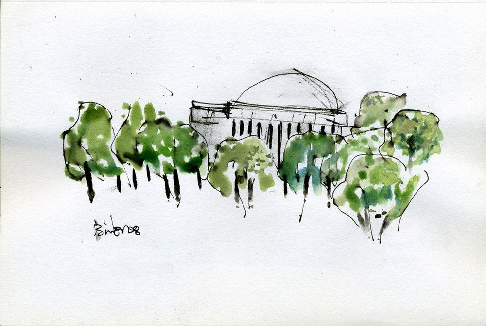 "Jefferson Memorial - UD303.  3"" x 5"""