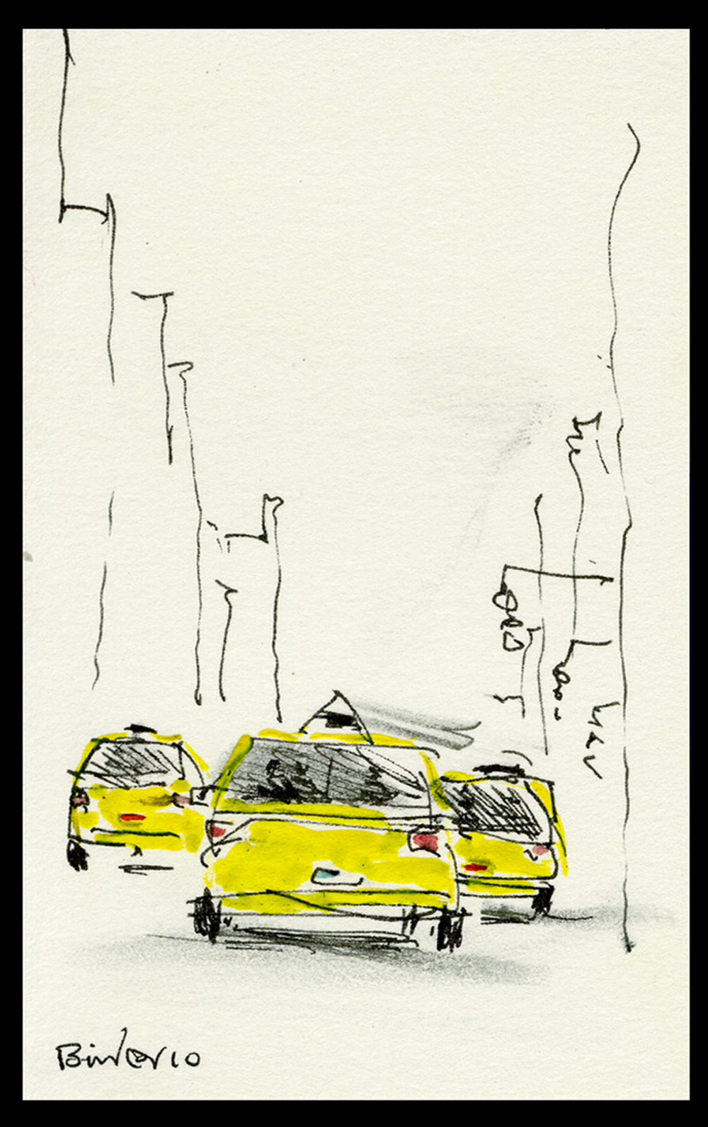 """West End and 45th - UDT103.  5"""" x 3"""""""