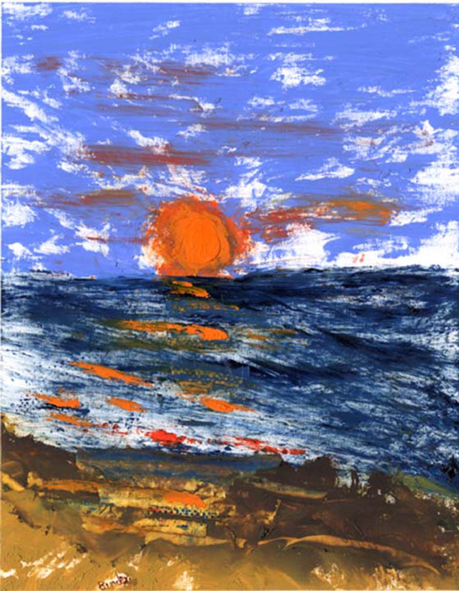 "Sanibel Sunset IV - LP12.  6 3/4"" x 5 1/4"""