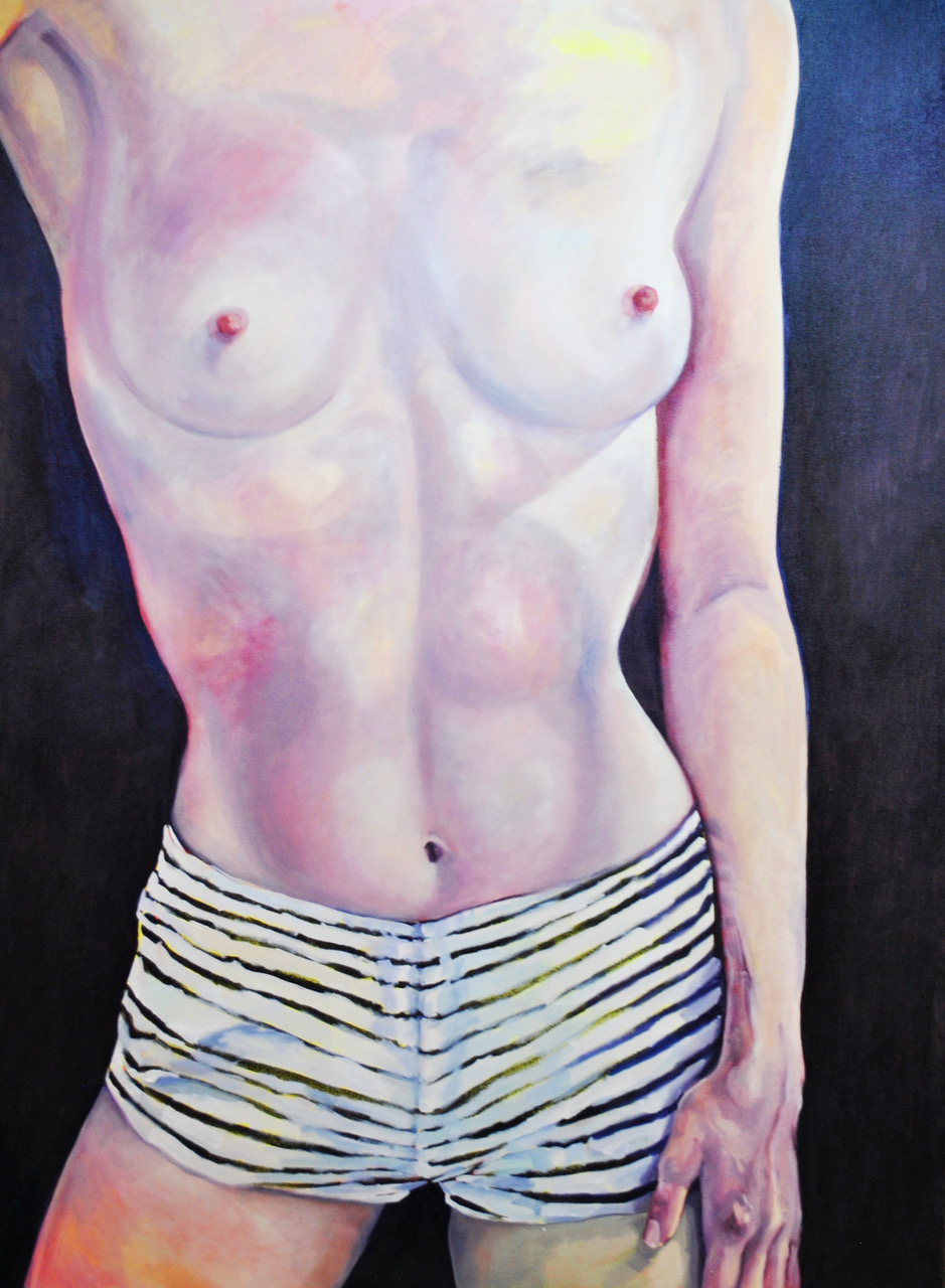 """Self, Assured   Oil on canvas  60"""" x 48""""  $1,200  Click image to enlarge   Inquire."""