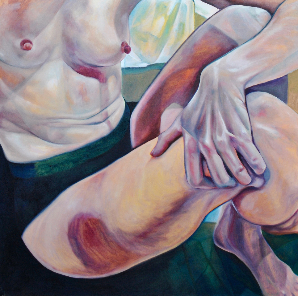 """Self, Contained   Oil on canvas  30"""" x 30""""  $900  Click image to enlarge   Inquire."""