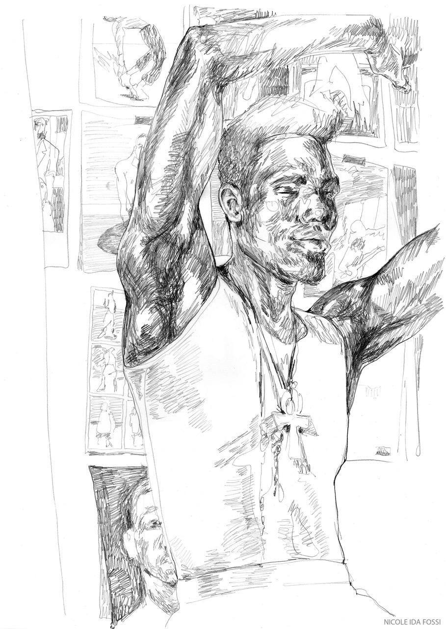 Em/body   Colored pencil on paper  $150  Click image to enlarge   Inquire.
