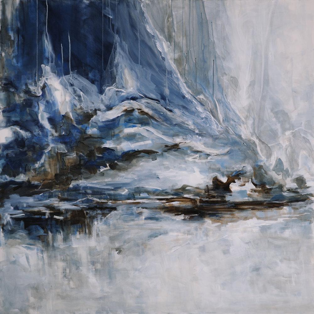 "Glacial Melt   Mixed media on canvas  48"" x 48""  $4500"