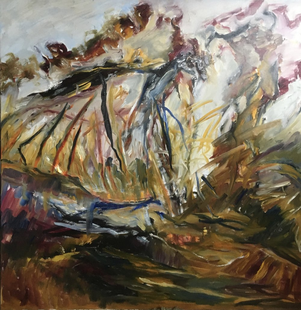 """Untitled   Oil on Canvas  30"""" x 30""""  $1500"""