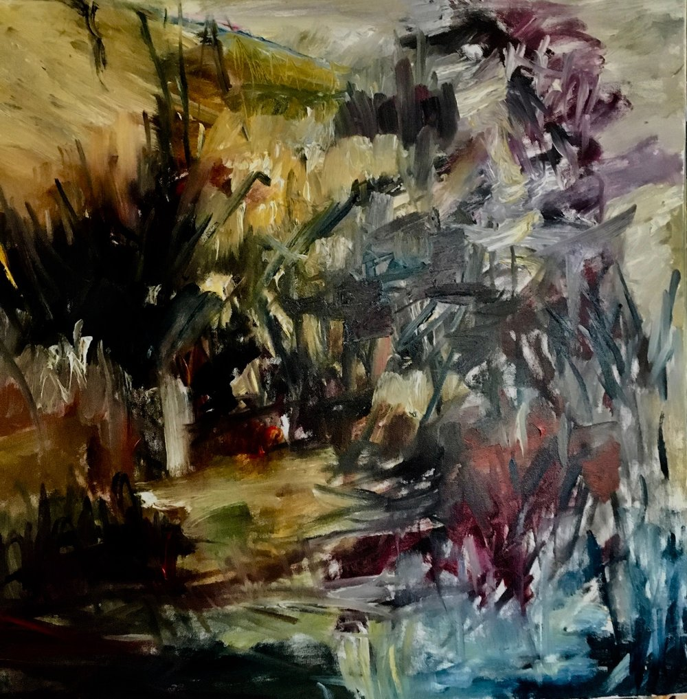 """Untitled   Oil on canvas   24"""" x 24""""  $1200"""