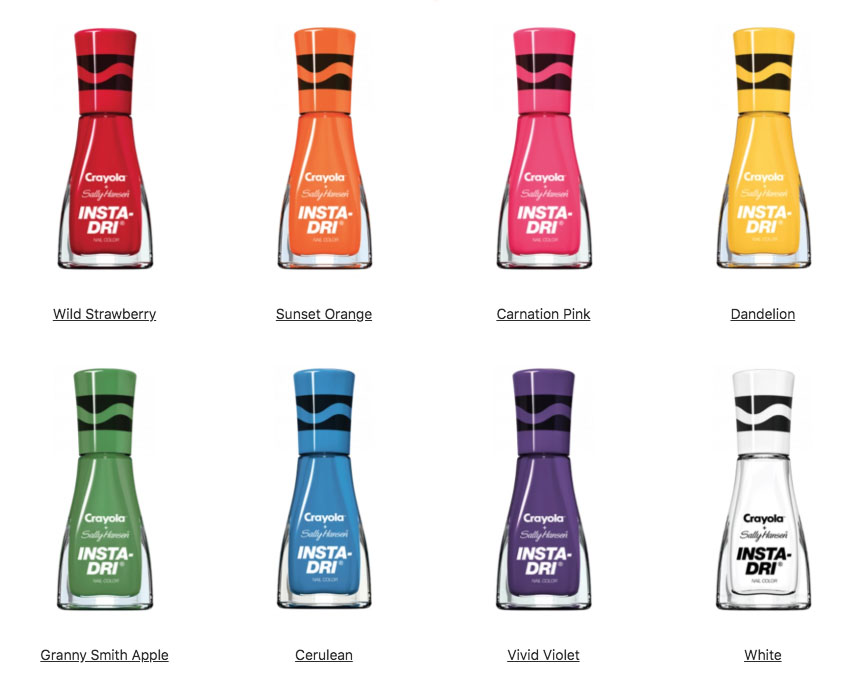 Crayola Nail Polish by Sally Hansen