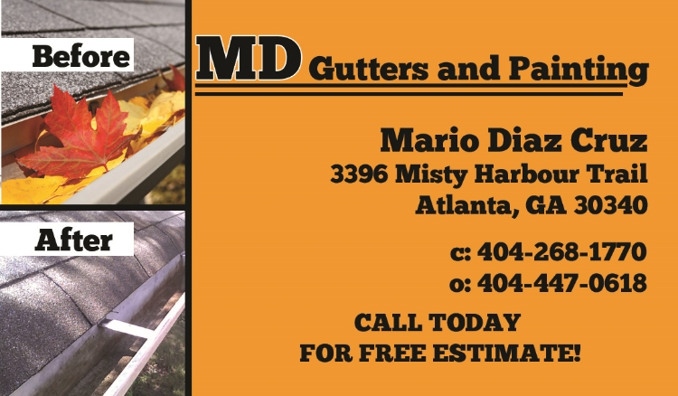 MD Gutters and Painting Front