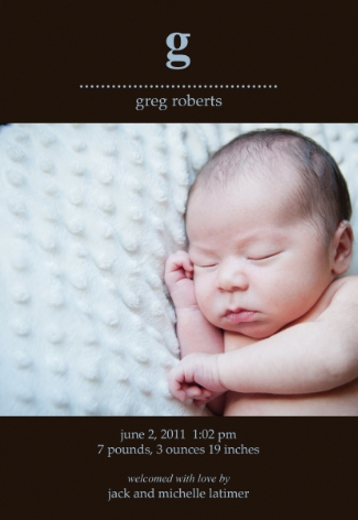 Sample Birth Announcement 4