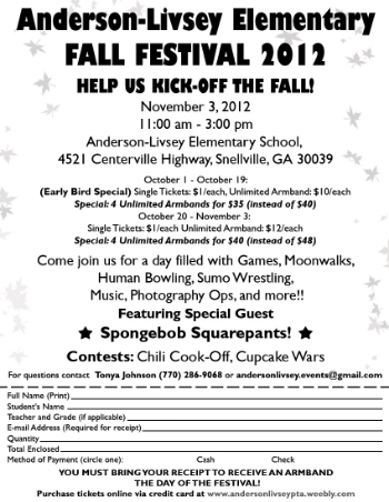 Fall Festival Flyer B&W