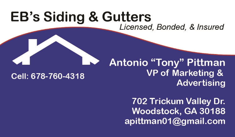 EB's Siding and Gutters- Tony