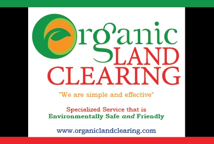 Organic Land Clearing Postcard- Front
