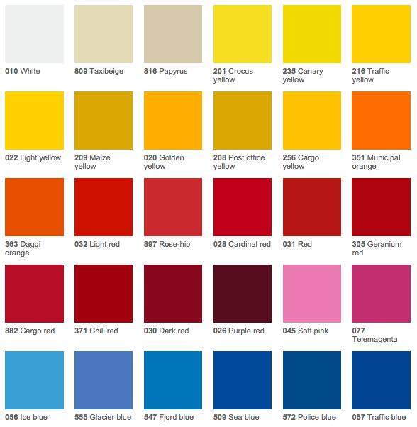 Wrap 'N Graphics Vinyl Color Chart