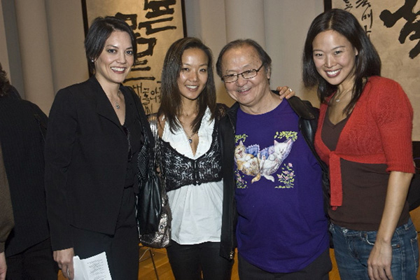 with Anne Akiko Meyers, Lucia Ahn, and Angella Ahn
