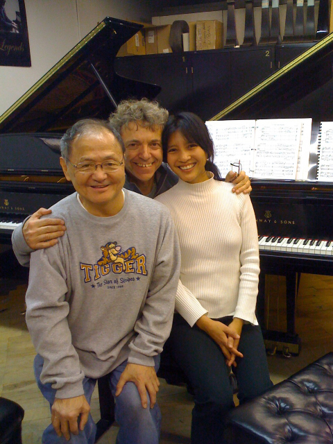 with Pascal Rogé and Amy Hakuno