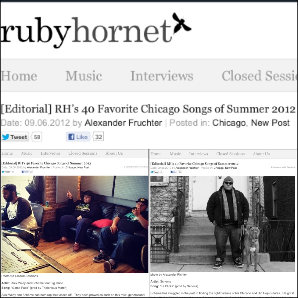 RubyHornet.com - 40 Best Chicago Songs
