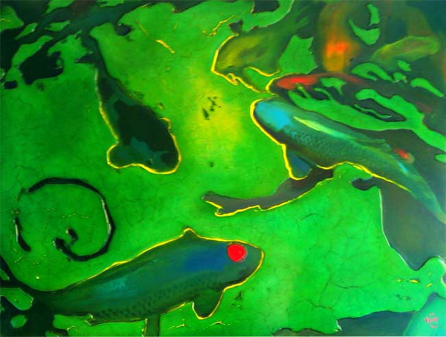 "349 Underglow 31"" x 24"" Oil on wood panel SOLD"