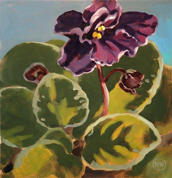87 - African Violet - SOLD