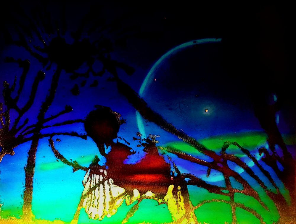 "369<br>Nocturnal Flight <br>37"" x 48"""