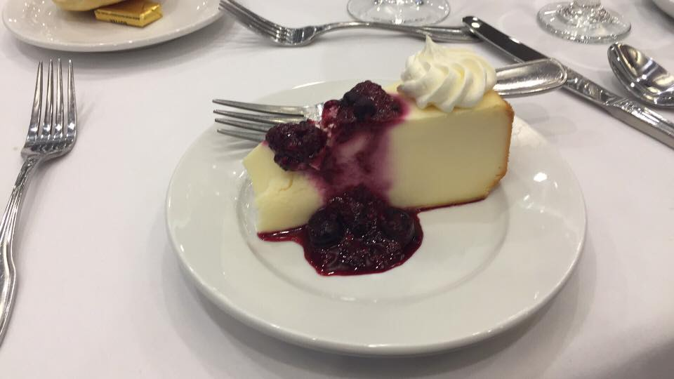 The cheesecake as a first course was a nice touch...