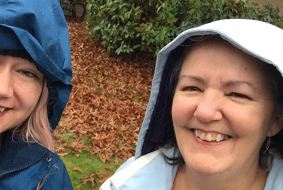 Door belling selfie in the rain! For Democracy!