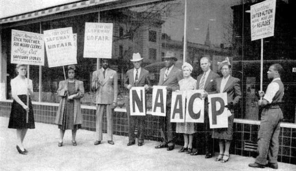 Boycott against Safeway until they employed African Americans, 1941. Photo: Washington Area Spark