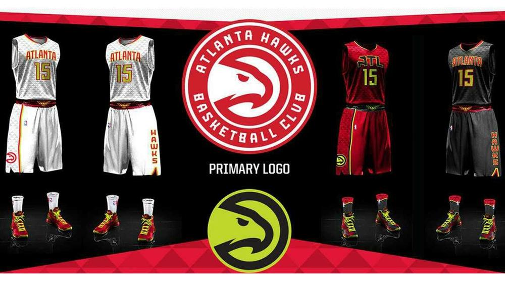 Atlanta Hawks New Uniforms & Official Basketball Club Logo