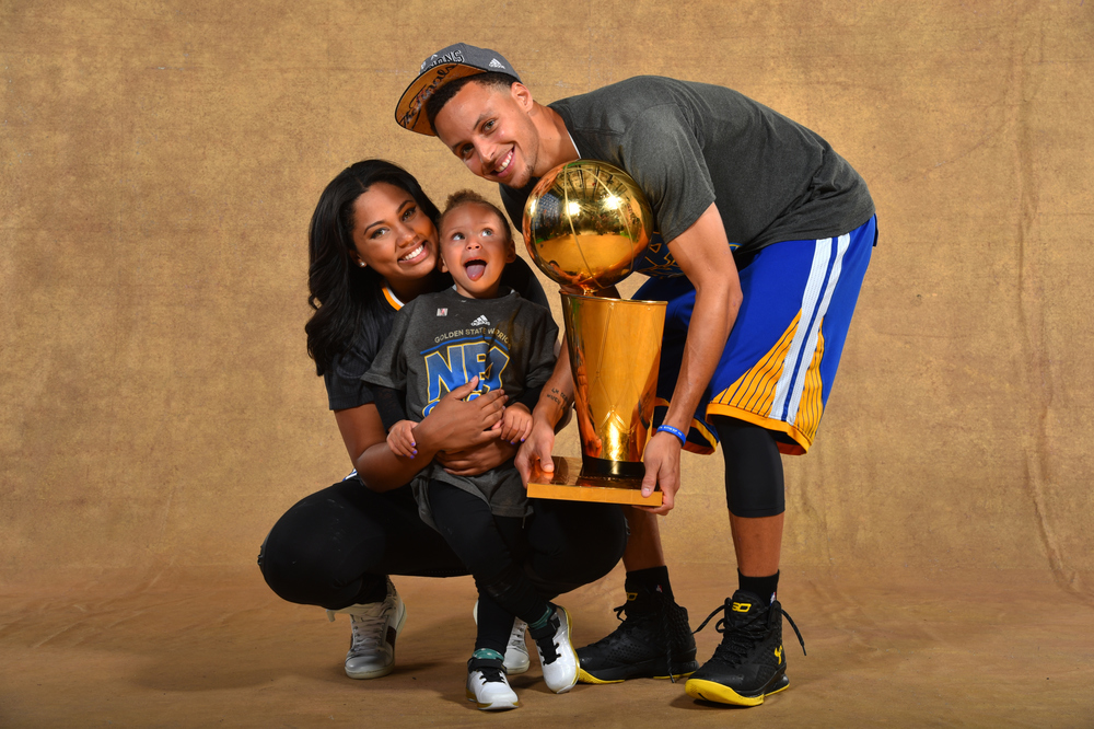 Ayesha Curry, Riley Curry, Stephen Curry