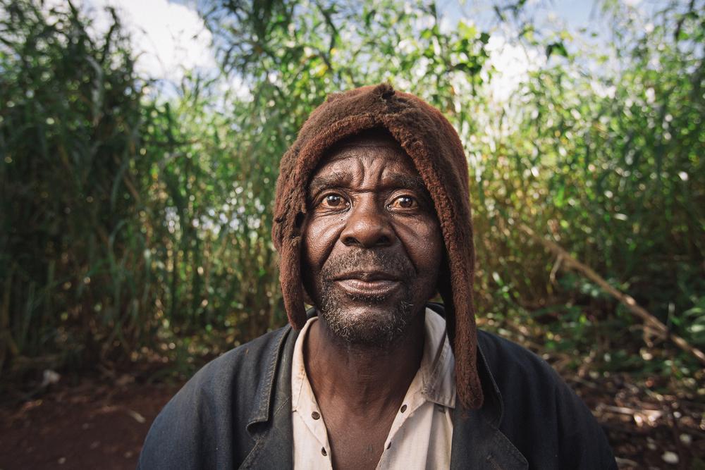 Cassava farmer, Mozambique