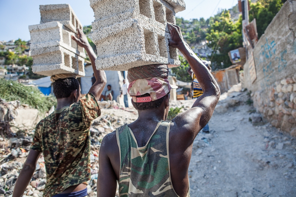 The re-building of Port au Prince, Haiti