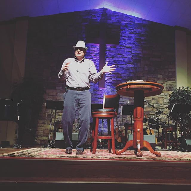 A pastor that wears a fedora WHILE he's preaching is always a keeper... shoutout to Pastor Monty for being an unbelievable husband, father, friend, leader, & man! @montydavis10 #trcclakeland #fedora #pastor