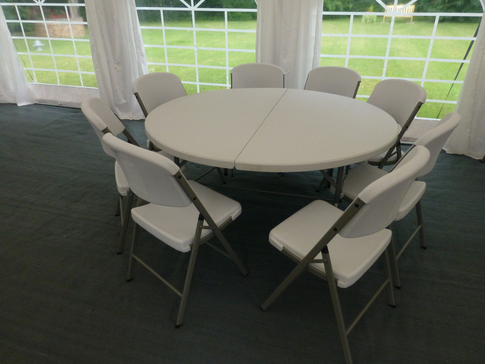 5 x 5ft tables and 40 x chairs
