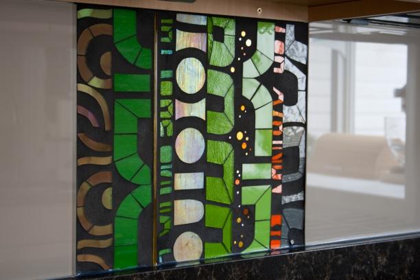 glass mosaic art for backsplash