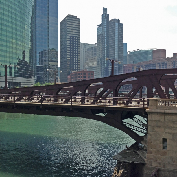 Jackson St bridge from the Merchandise Mart