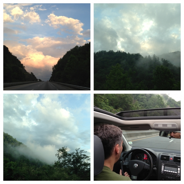 Driving into Asheville through the Cherokee National Forest