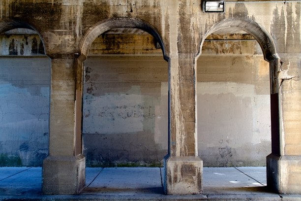 viaducts at Mulford, Evanston, IL | concrete surfaces+lines