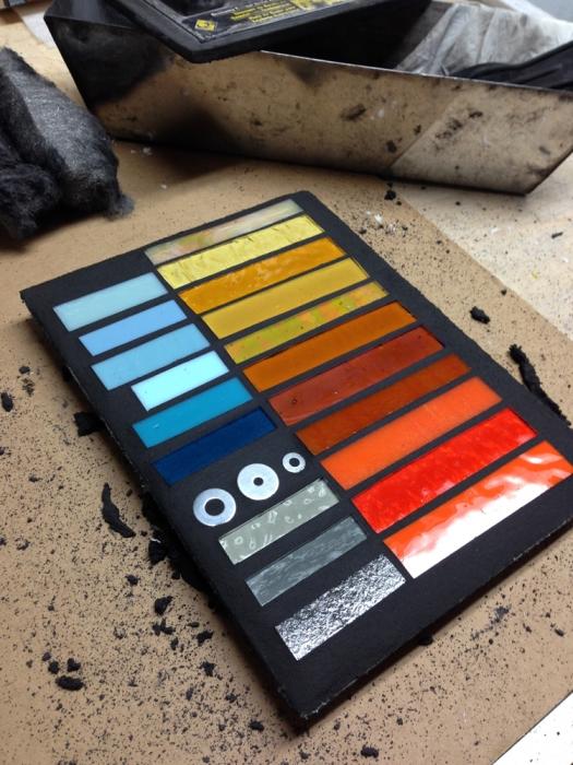 color palette   glass samples