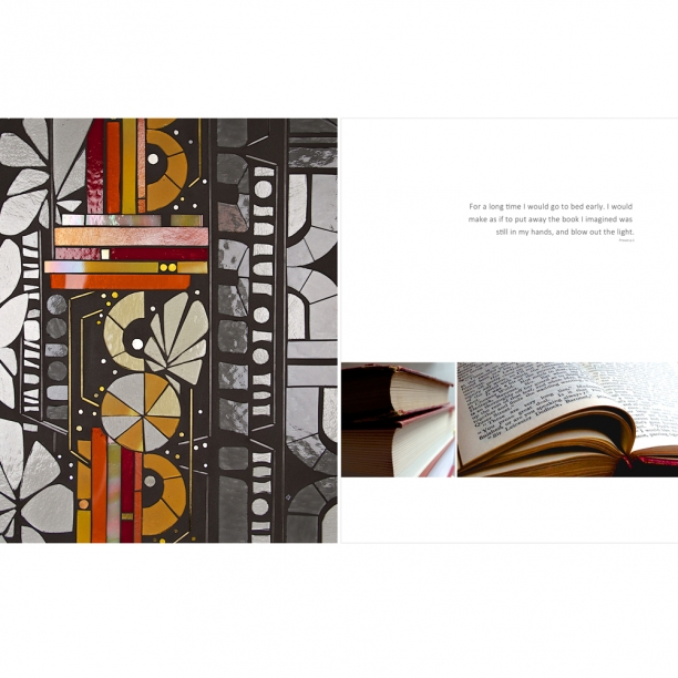 WIP | Proust visuals | Old books | Heather Hancock c 2014