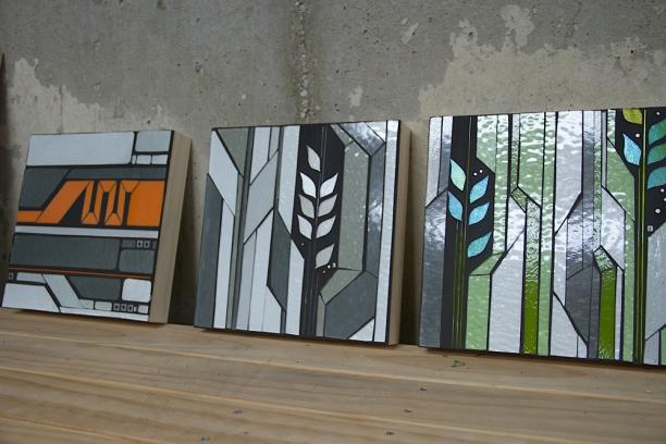 "digital prairie and urban vines | 10"" x 10"" prototypes c Heather Hancock 2014"